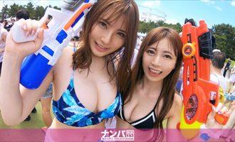 200GANA-2142在某主题公园发现的泳装二人组